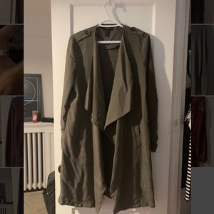 Army green over coat